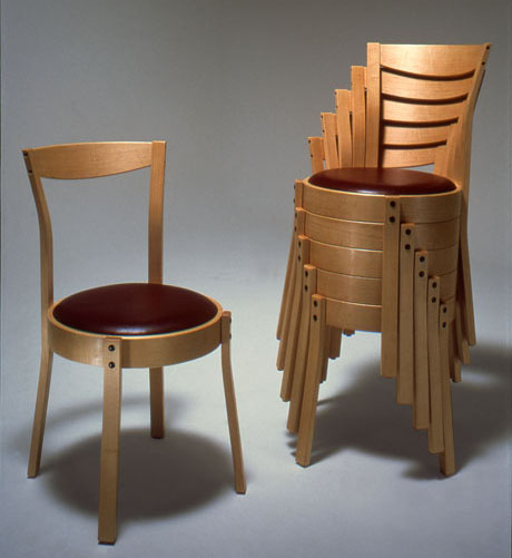 handcrafted stackable dining chairs curtis erpelding furniture