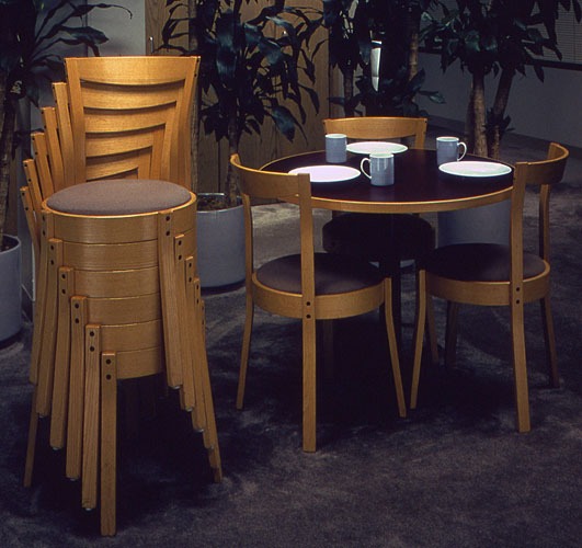 Quality Handcrafted Stackable Dining Chairs Curtis